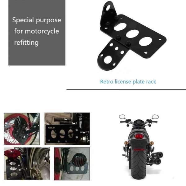 Motorcycle License Plate Side Mount