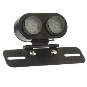 Motorcycle License Plate Mount W/ Led Light